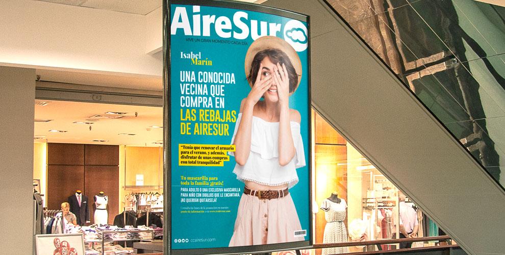 AireSur Centro Comercial Campaña Creatividad Identidad Marca