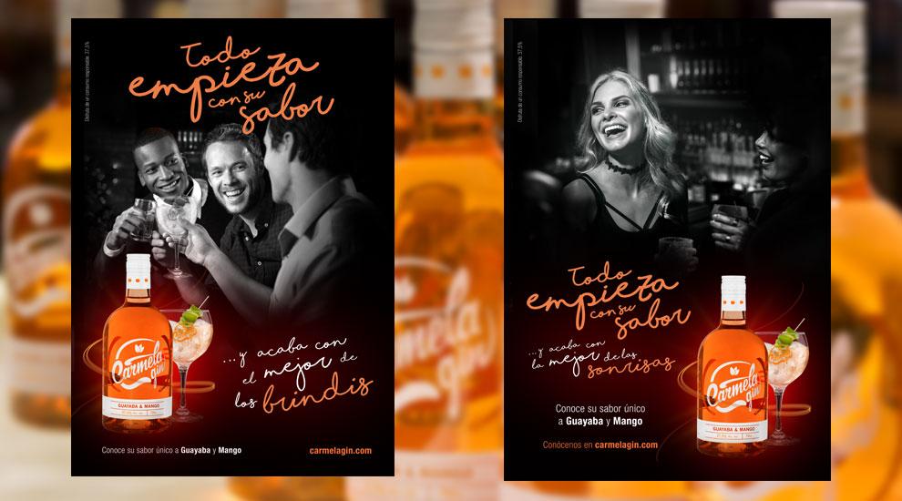 Arehucas Carmela Gin Creatividad Gráfica Campaña