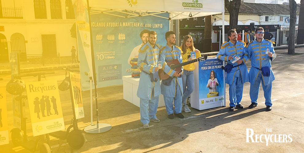 Ecoembre The Recyclers Acción Street Marketing Reciclaje azafatos