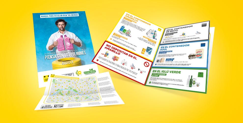Ecoembre The Recyclers Acción Street Marketing Reciclaje flyers