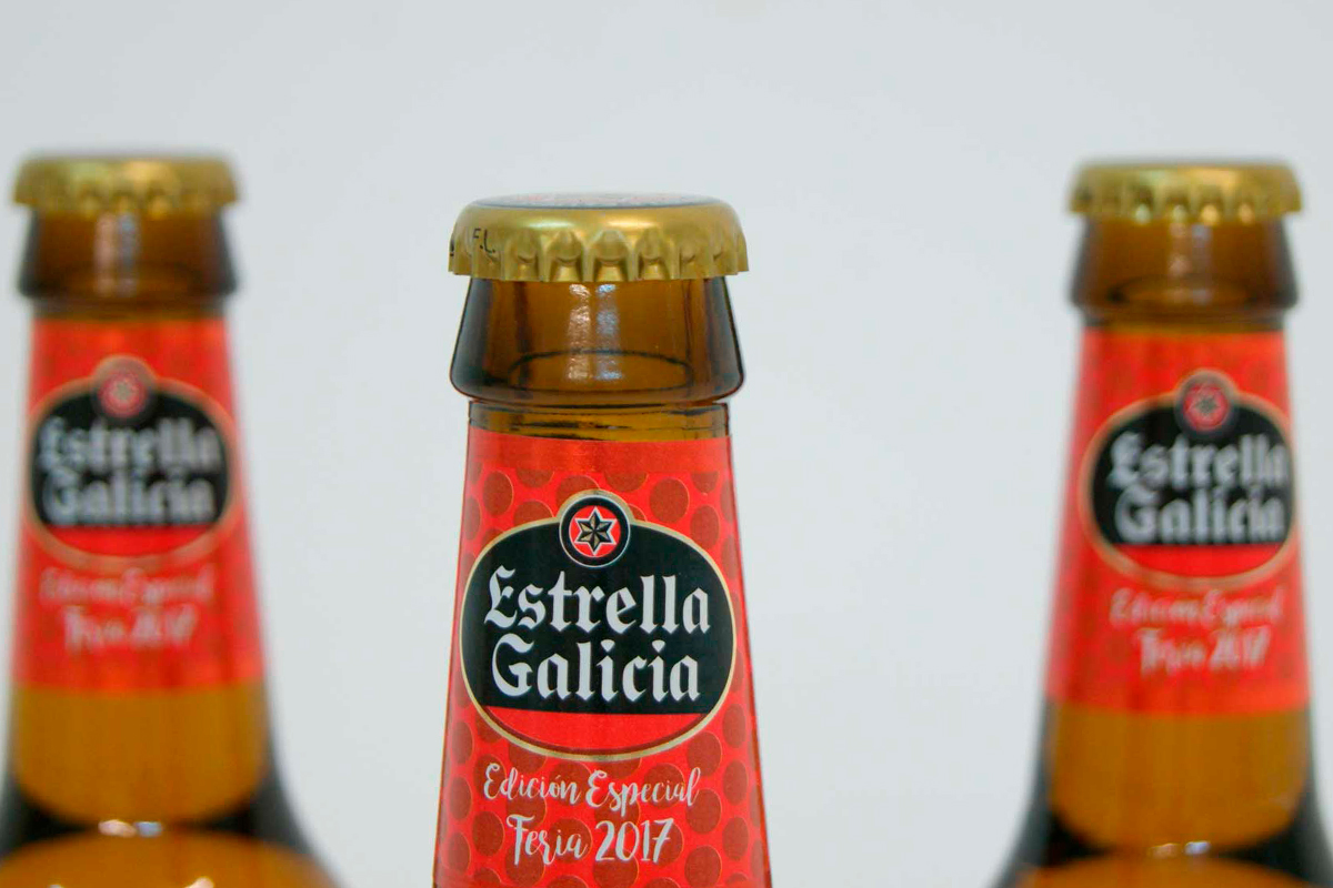 Estrella Galicia Etiquetado packaging local Feria de Abril Sevilla03