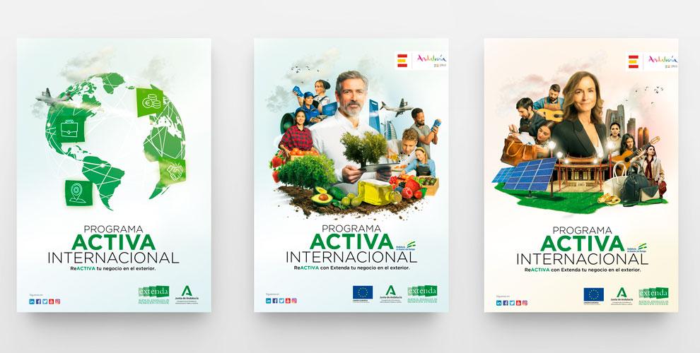 Extenda Activa internacional Creatividad Gráfica