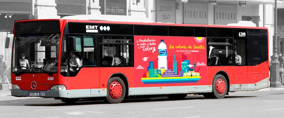 Fontarel Campaña Estrategia Posicionamiento Creatividad Gráfica Autobuses