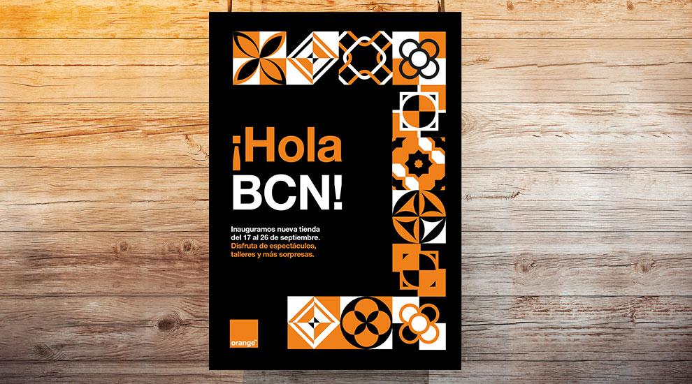 Inauguración Orange Tienda Barcelona Agencia Eventos Creatividad Gráfica01