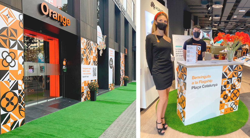 Inauguración Orange Tienda Barcelona Agencia Eventos Trade Marketing02