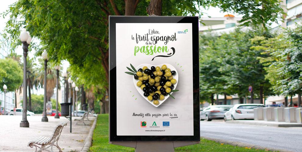 Interaceituna Campaña diseño estrategia Francia marquesina