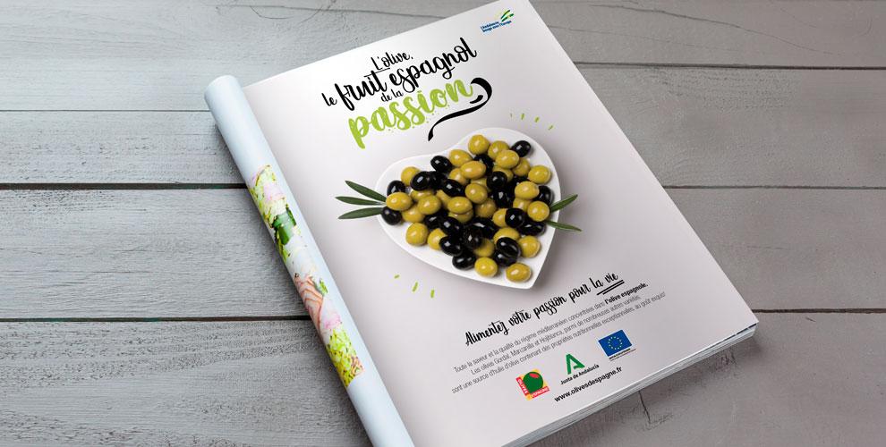 Interaceituna Campaña diseño estrategia Francia prensa