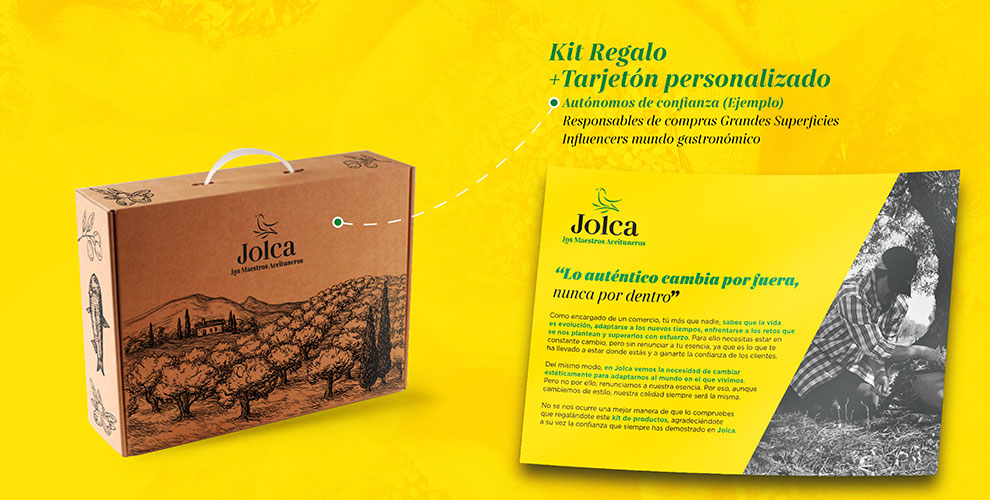 Jolca Aceitunas Campaña Creatividad welcome pack