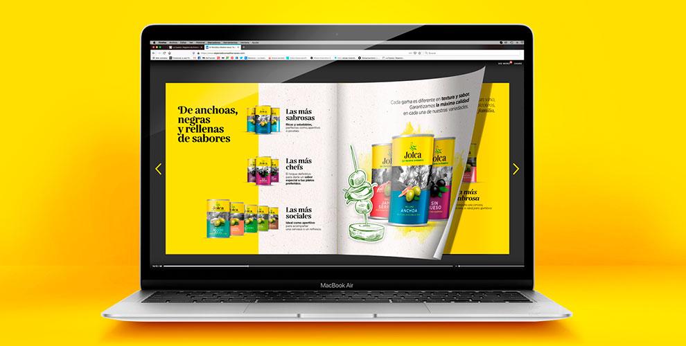 Jolca aceitunas Campaña Reposicionamiento Creatividad Catálogo Digital